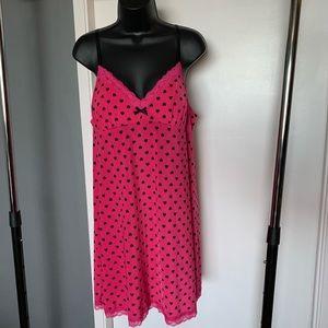 like nw Jenni pink/black hearts lace nightie 6/$14